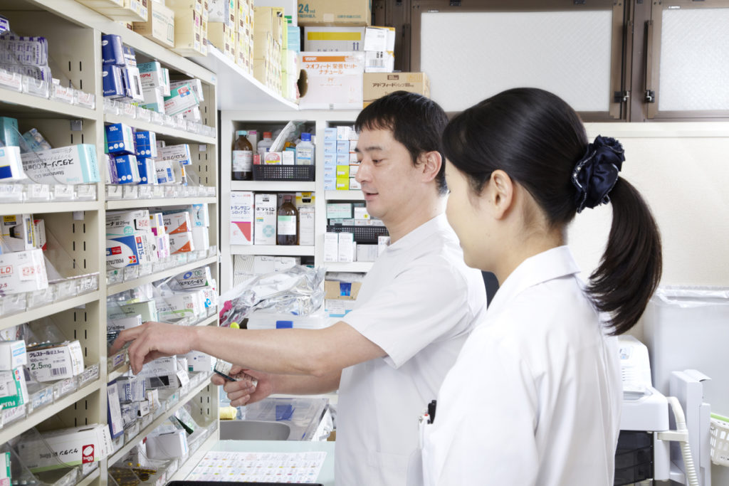 Pharmacist Japanese men and Japanese women