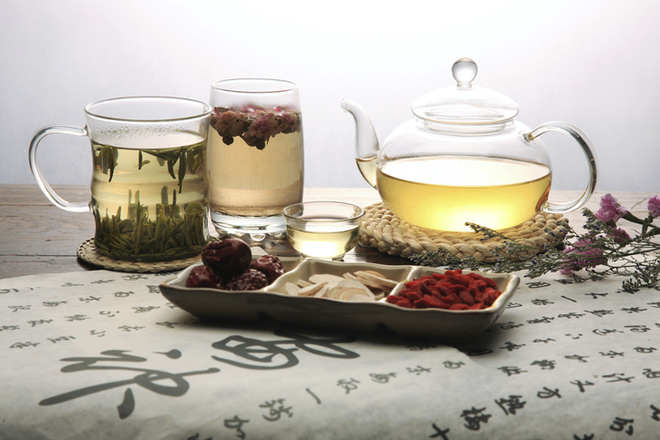 Chinese herbal medicine and tea set